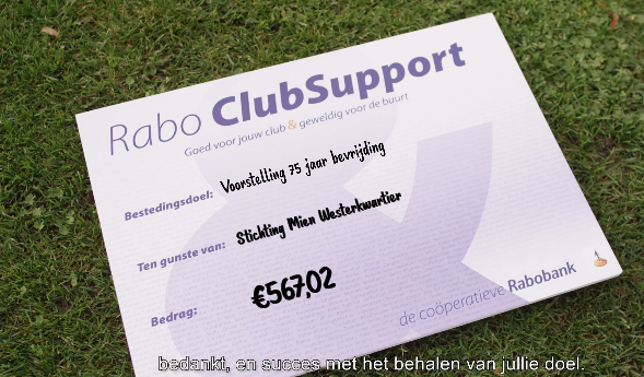 Rabo Club Support weer mooi resultoat